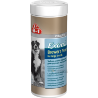 >8 IN 1 Excel Brewer's Yeast for large breed Пивные дрожжи для собак крупных пород, 80 таблеток