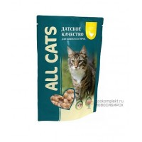 All Cats Complete cat food for all breeds with Chicken Влажный корм для кошек, курица в соусе, 85 г